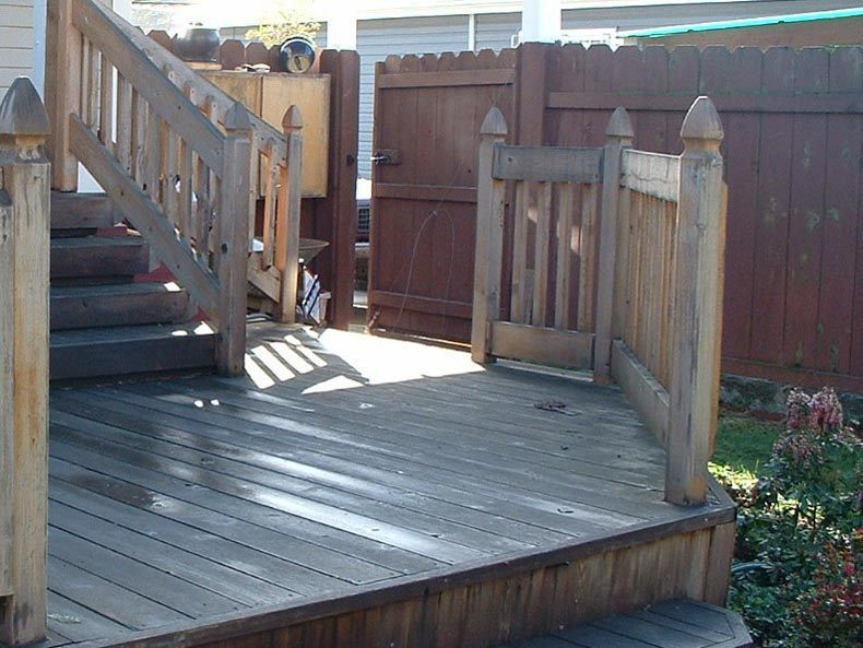 before deck cleaning Portland